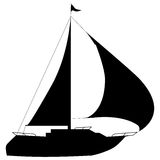 Boat-Yacht. Illustration of silhouettes yacht on a white background vector illustration