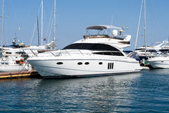 Boat yacht moored Royalty Free Stock Photos