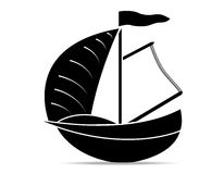Boat. Yachts on a white background Royalty Free Stock Image
