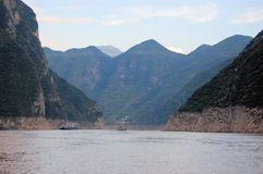 Boat on the Yangtze River, China Royalty Free Stock Photo