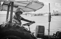 Boat yard tractors Thailand Stock Photos
