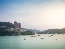 Boat and yatch at Repulse bay Royalty Free Stock Photography