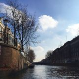 Boatcruise in Amsterdam Stock Photo