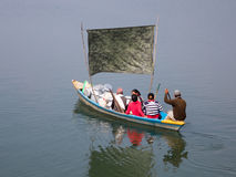 Boaters on a Lake Stock Photography