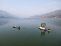 Boaters on a Lake Stock Photo