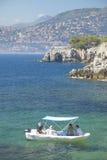 Boaters near Saint Jean Cap Ferrat, French Riviera, France Stock Images