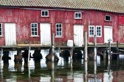 boathouse κόκκινο στοκ φωτογραφία