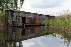 Boathouse σε Linum Στοκ Φωτογραφία