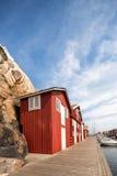 Boathouse στη γέφυρα Smogen μια θερινή ημέρα στοκ φωτογραφίες