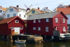 Boathouse. In Swedish westcoast Stock Photography