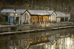 Boathouse austeria, Saltaire fotografia royalty free