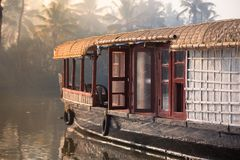 Boathouse in the Backwaters Royalty Free Stock Photography