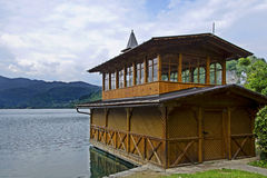 Boathouse on bled lake Stock Photography