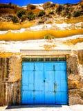 The Boathouse Door Gozo. Boathouse blue door in Gozo in rock royalty free stock photography