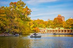 The Boathouse Central Park stock photo