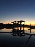 Boathouse in Charleston, South Carolina stock images