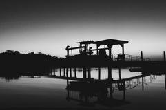 Boathouse in Charleston, South Carolina stock image