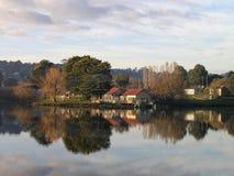 The Boathouse, Daylesford, Victoria, Australia. View of The Boathouse across Lake Daylesford, Victoria Stock Photography