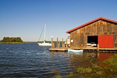 BoatHouse do Chesapeake Fotografia de Stock