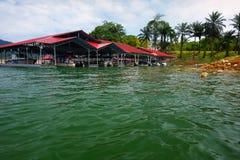 Boathouse Tasik Kenyir. Boathouse dock at Pengkalan Gawi for only Ketengah personal at Tasik Kenyir Stock Photo
