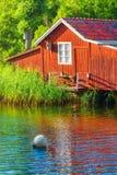 Boathouse durante verano foto de archivo libre de regalías