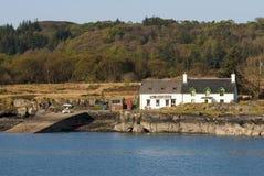 Boathouse en la isla del Ulva. foto de archivo