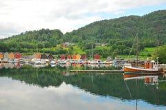 Boathouse en Noruega fotos de archivo