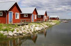 Boathouse en Suecia. imagen de archivo libre de regalías