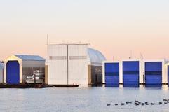 Boathouse flotante fotografía de archivo