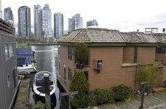 Boathouse at Granville Island Stock Photo