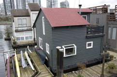 Boathouse at Granville Island Royalty Free Stock Images