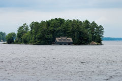 Boathouse on an island Royalty Free Stock Images