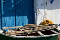 Boathouse. Klima, Milos. Cyclades islands. Greece Stock Photo