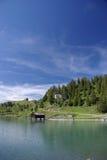 Boathouse on lake Stock Photos