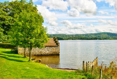 Boathouse on Lake Windermere Royalty Free Stock Images