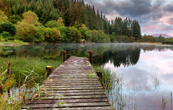 Boathouse Loch Ard Obraz Royalty Free