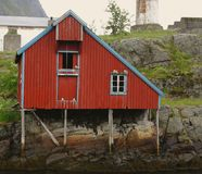 Boathouse in Lofoten Royalty Free Stock Image