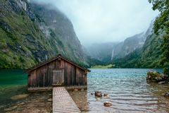 Boathouse near Koenigssee Lake in Bavaria, Germany. Stock Image