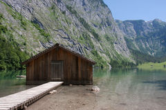 Boathouse at Obersee Royalty Free Stock Photo