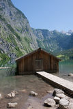 Boathouse at Obersee Stock Photo