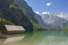 Boathouse at Obersee Stock Image