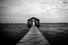 Boathouse in Perth. Boathouse sitting on the Swann River, Perth Stock Image