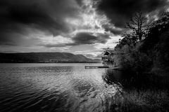 Boathouse in Pooley Bridge, Lake District, Cumbria. stock photos