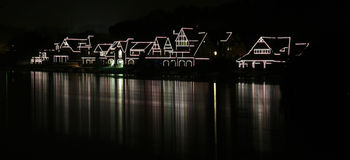 Boathouse-Reihe Stockbild
