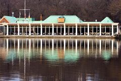 The Boathouse Restaurant. The Boathouse is a restaurant in the heart of Central Park (NYC) located on a tranquil lake royalty free stock images