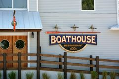 Boathouse Restaurant & Bar Stock Photo