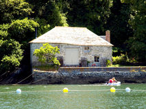 Boathouse, River Fowey, Cornwall. Stock Photos