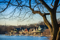 Boathouse Row by night Royalty Free Stock Photos