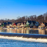 Boathouse Row by night Royalty Free Stock Images