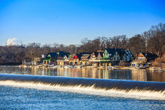 Boathouse Row by night Stock Photos